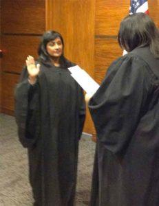 Radha Sworn In