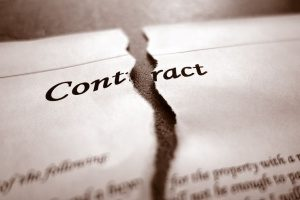 breach of a contract that includes a forum selection clause for disputes