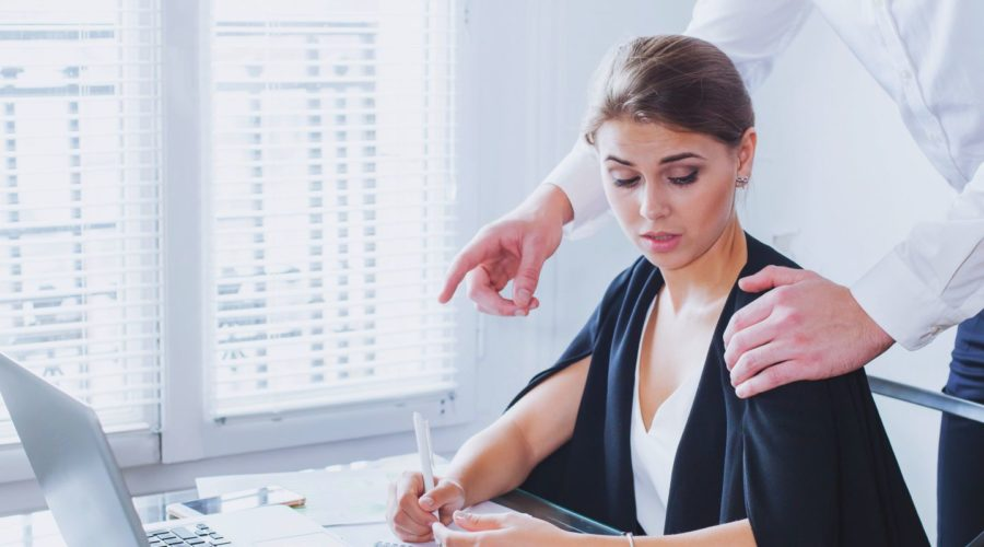 an employee committing sexual harassment in the workplace