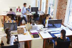 A busy workplace. Make sure any restrictive covenants your company uses are narrow in scope