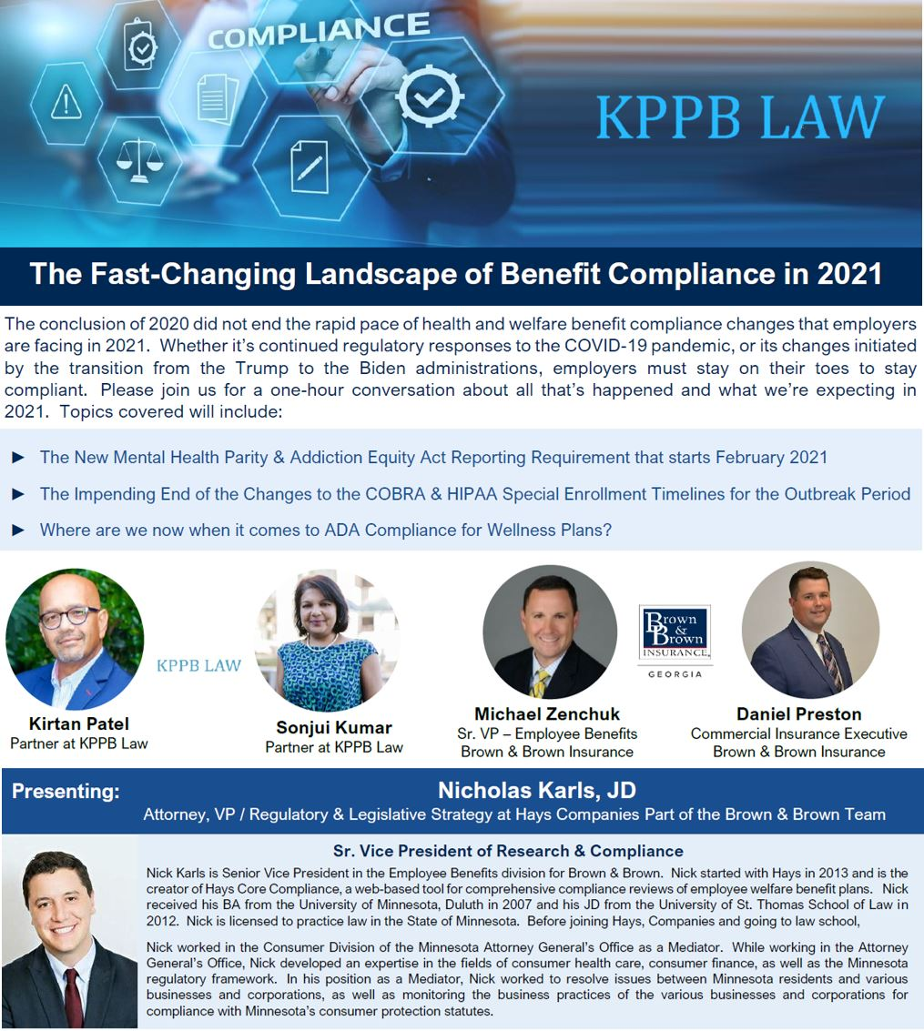 Benefit Compliance in 2021