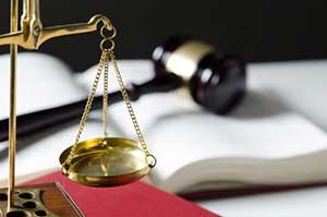 an attorney gavel and balance representing bankruptcy law firm