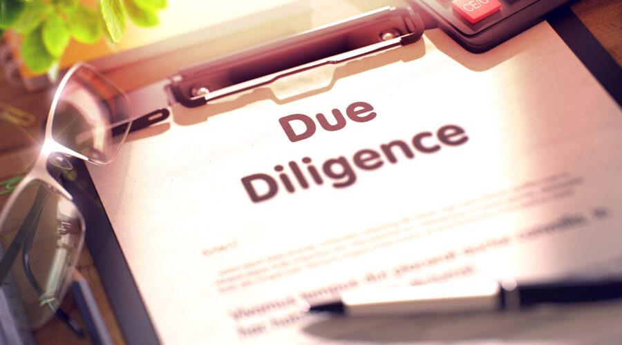 due diligence checklist on a table